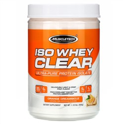 Muscletech, ISO Whey Clear, Ultra-Pure Protein Isolate, Orange Dreamsicle, 1.10 lbs (505 g)