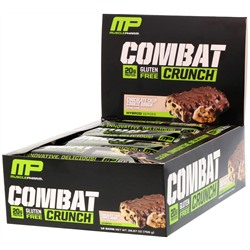 MusclePharm, Combat Crunch, Chocolate Chip Cookie Dough, 12 Bars,  26.67 oz (756 g)