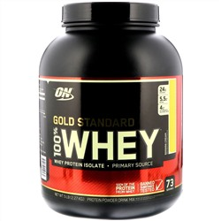 Optimum Nutrition, 100% Whey Gold Standard, со вкусом банана, 5 фунтов (2,27 кг)
