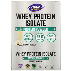 Now Foods, Sports, Whey Protein Isolate, Creamy Vanilla, 8 Packets, 1.13 oz (32 g) Each